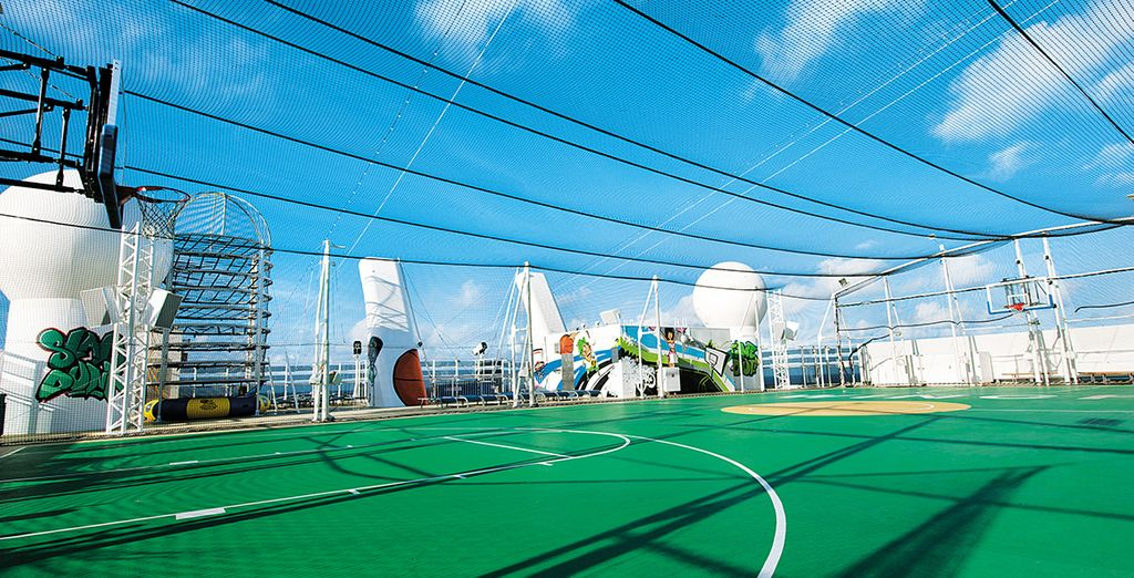 Burn up a sweat at the sports complex