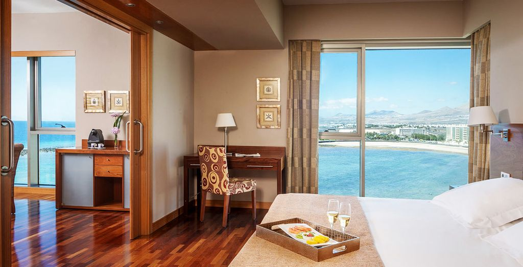 Stay in an amazingly spacious Suite