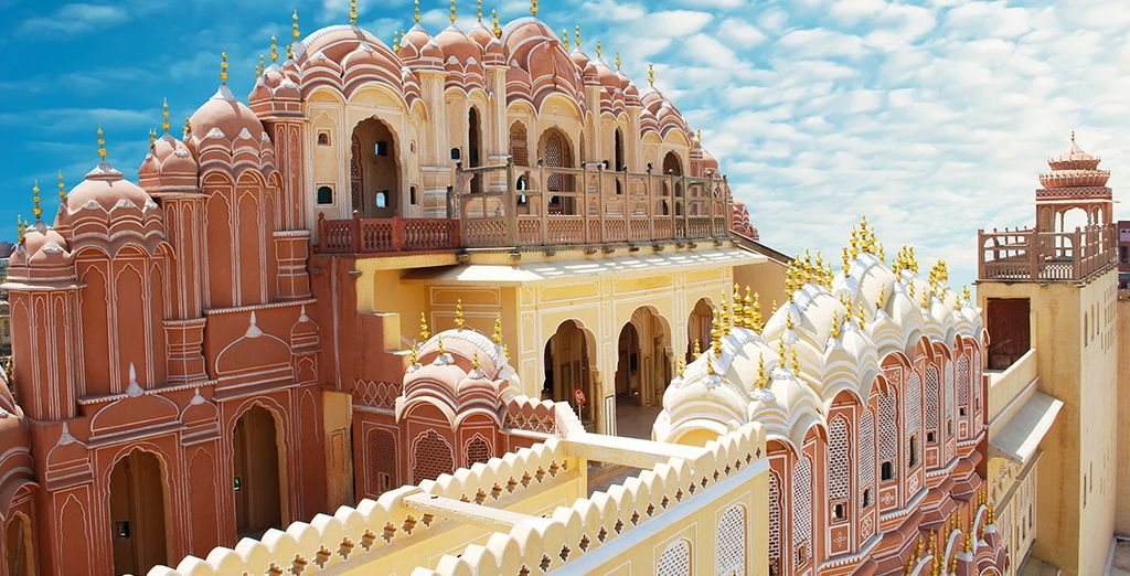 And the 'pink city' of Jaipur