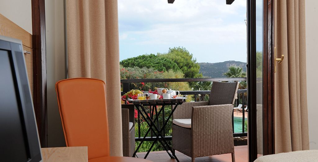Which you can enjoy from your private balcony