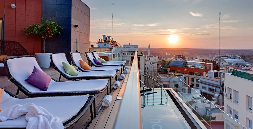 Admire the best sunsets in Madrid from this rooftop