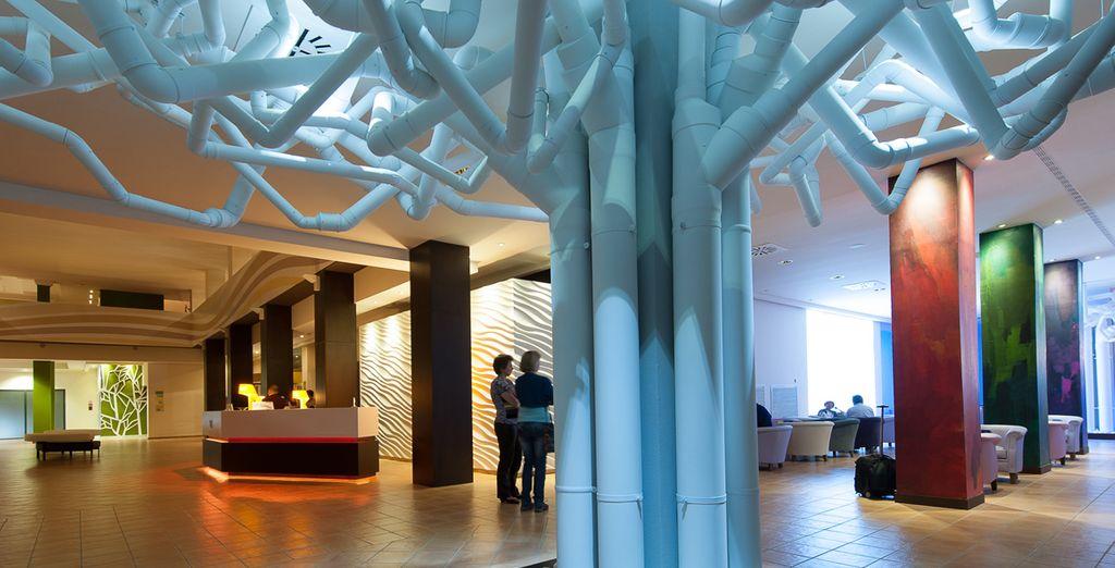 Recently refurbished, the hotel displays modern, cutting edge design