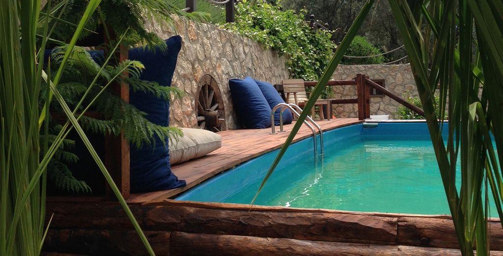 Unwind in the pool (Casa Brigitte B)