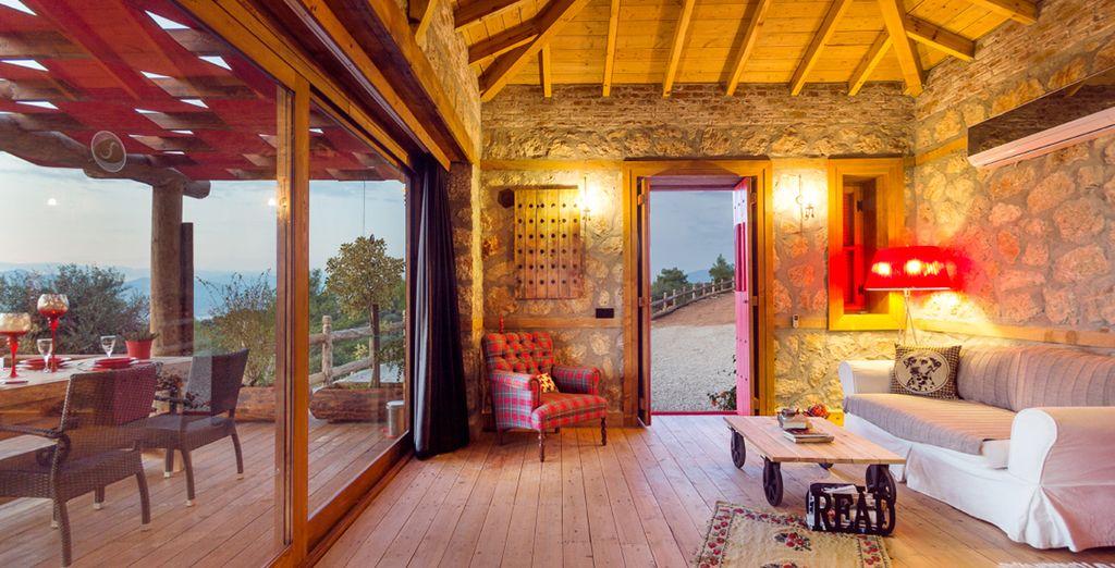 Warm, inviting interiors (Casa Dominique)