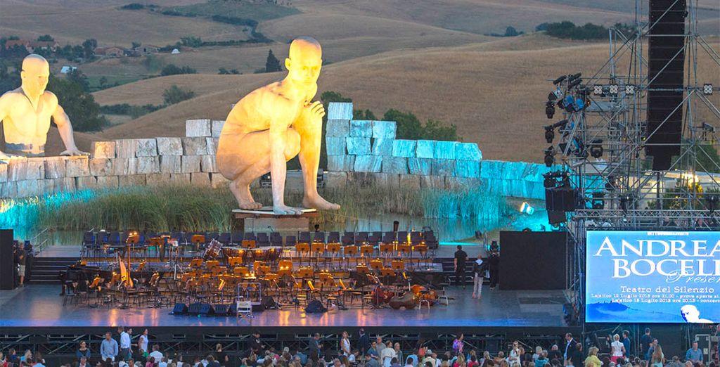 Experience the amazing 'Teatro del Silenzio' in Bocelli's hometown, Lajatico