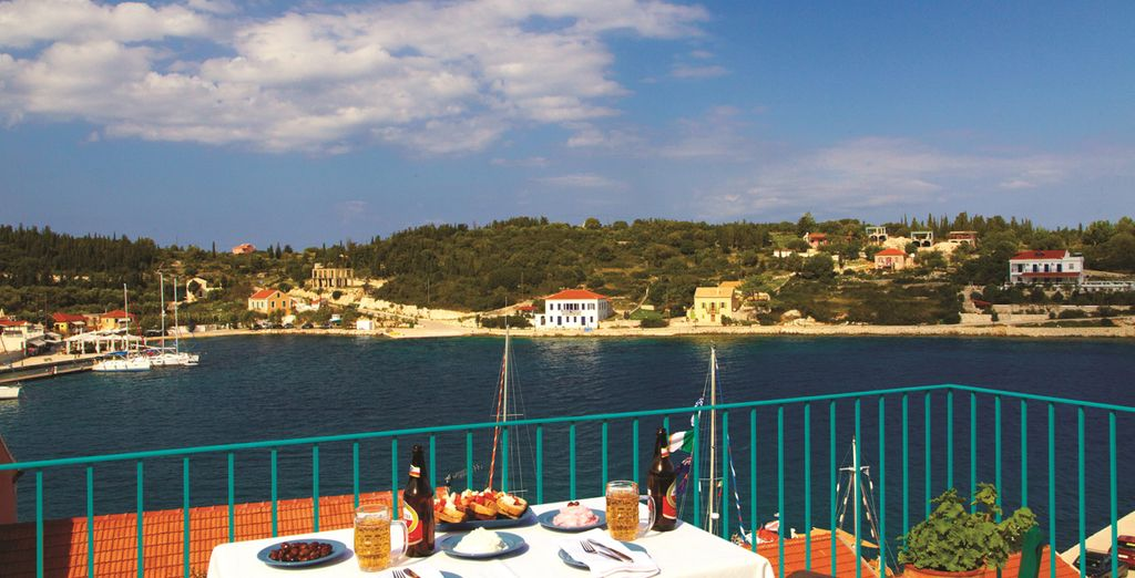 Self-catering means you can enjoy your meals with this view!