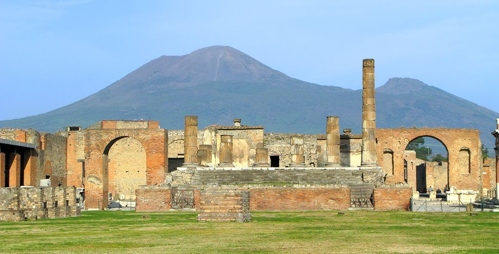 Revel in the atmosphere of the ruins of Pompeii