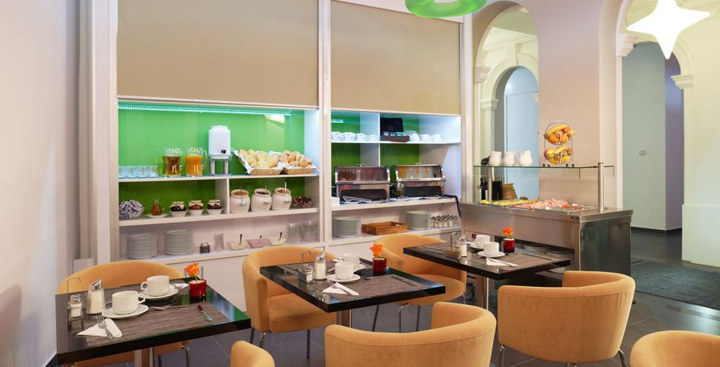 Enjoy a daily breakfast, helping to energise you for a day in the city