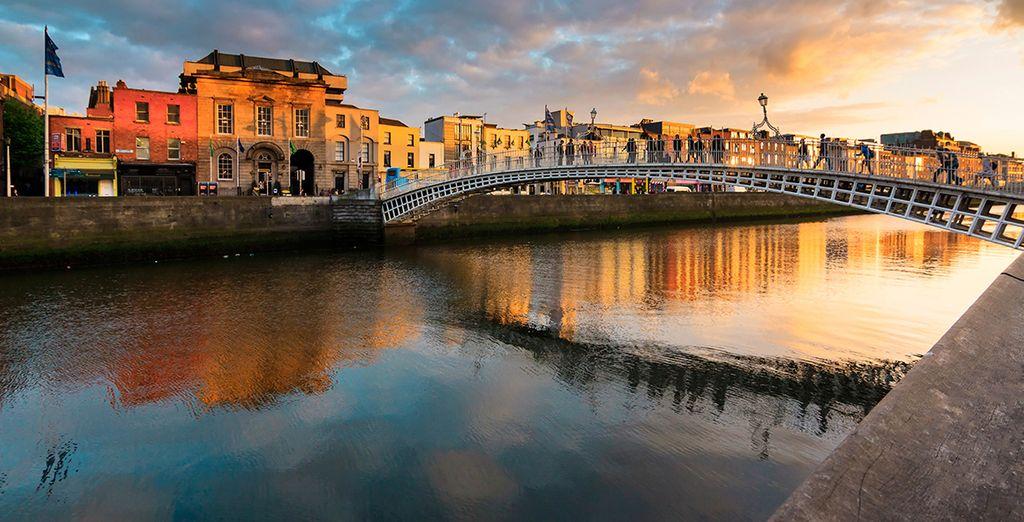 Your stay begins in cosmopolitan Dublin ...