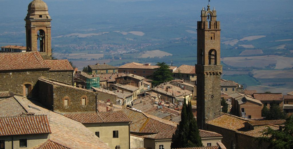 And pay a visit to the hilltop city of Montalcino - the home of Brunello wine!