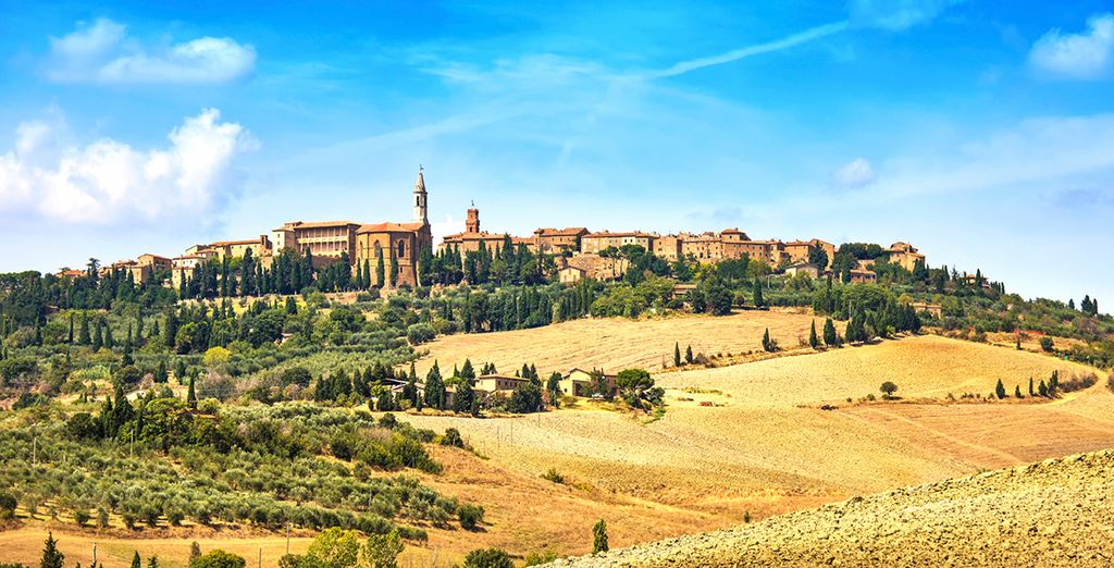 Visit the beautiful medieval village of Pienza