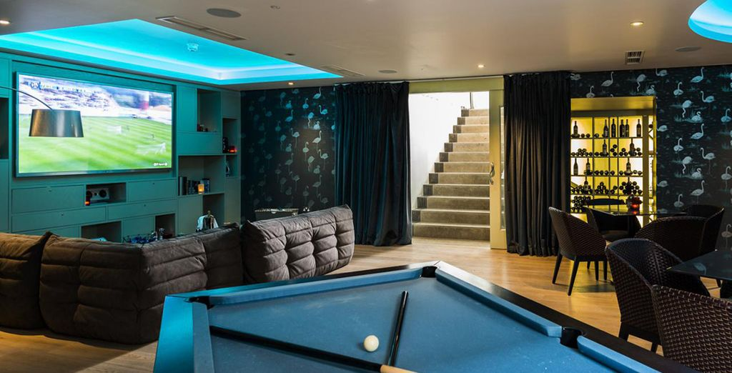 And unwind in the games room