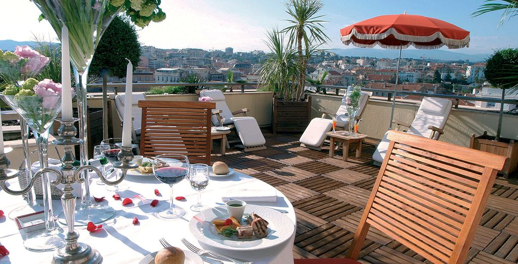 Great cuisine served with a fantastic view...