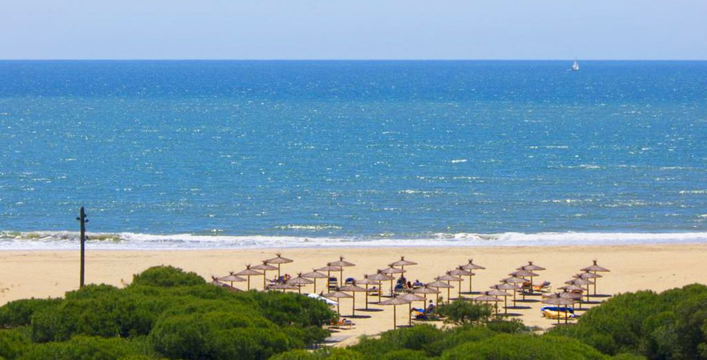 Or head for the golden sands of the nearby beach