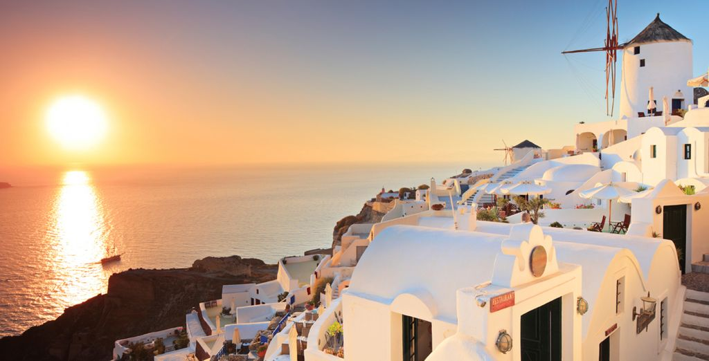 The white-washed houses of Santorini