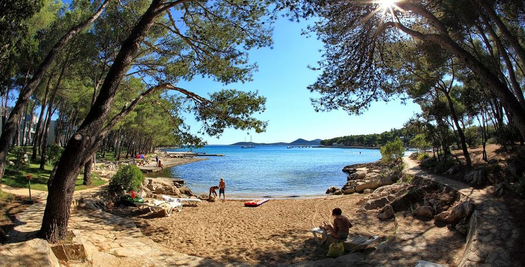 Find secluded beach coves and sun traps