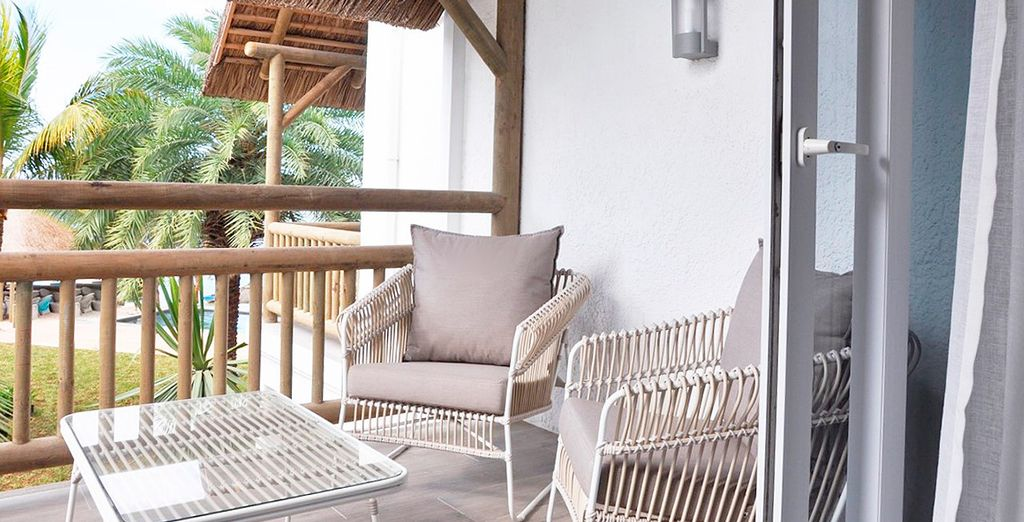 Step out on your terrace or balcony