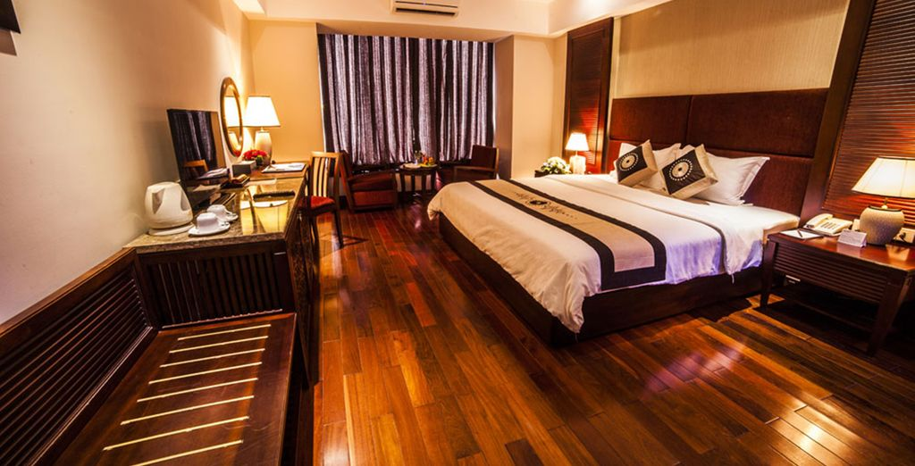 Comfortable hotels are included throughout