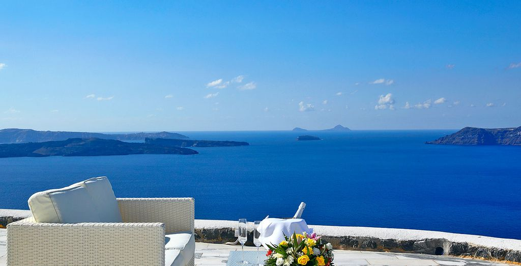 With wonderful views of the Aegean