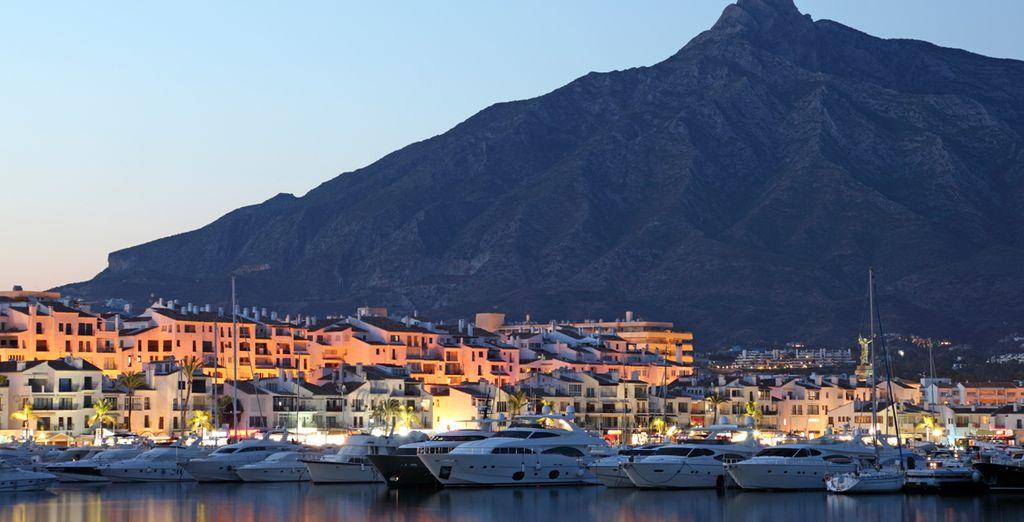 The luxury yachts of Puerto Banus await...