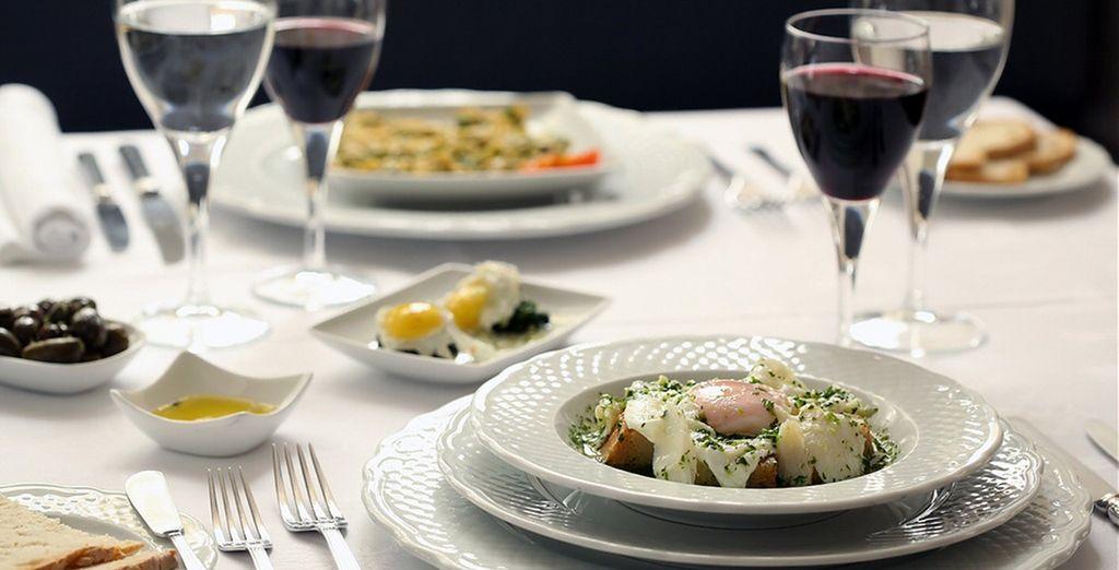 Enjoy delicious cuisine