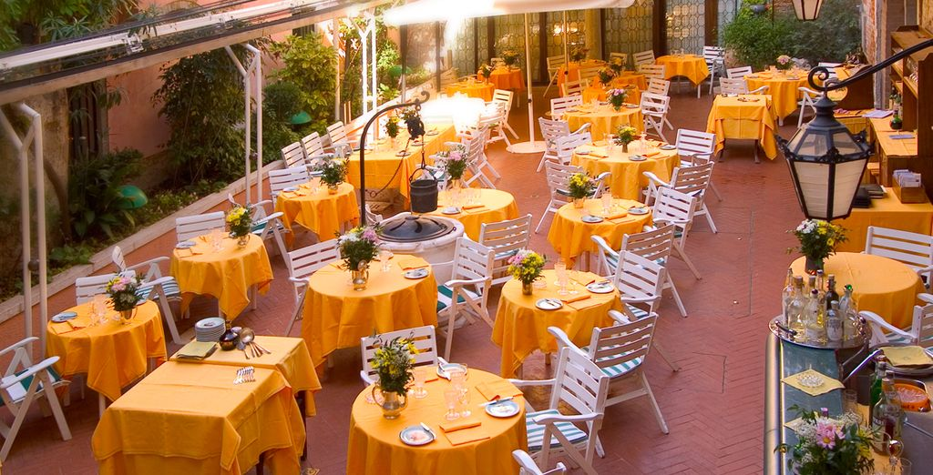 Which you can enjoy outside on the terrace if the weather's right