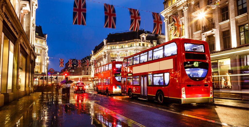 Hop on a bus and reach central London