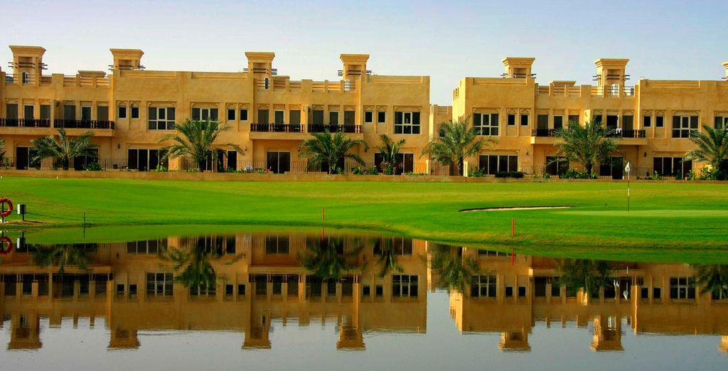 Set upon an expansive 18-hole golf course