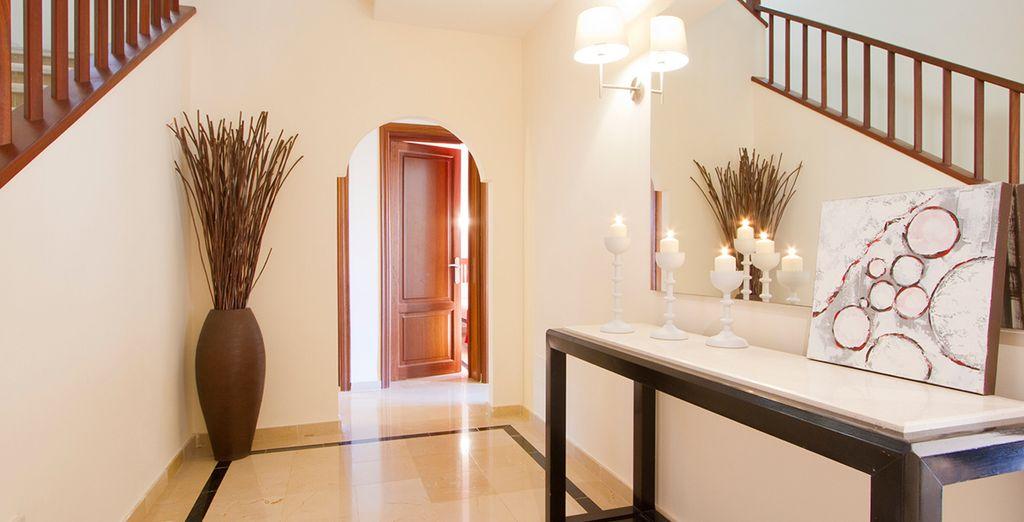 Interiors are sleek and modern