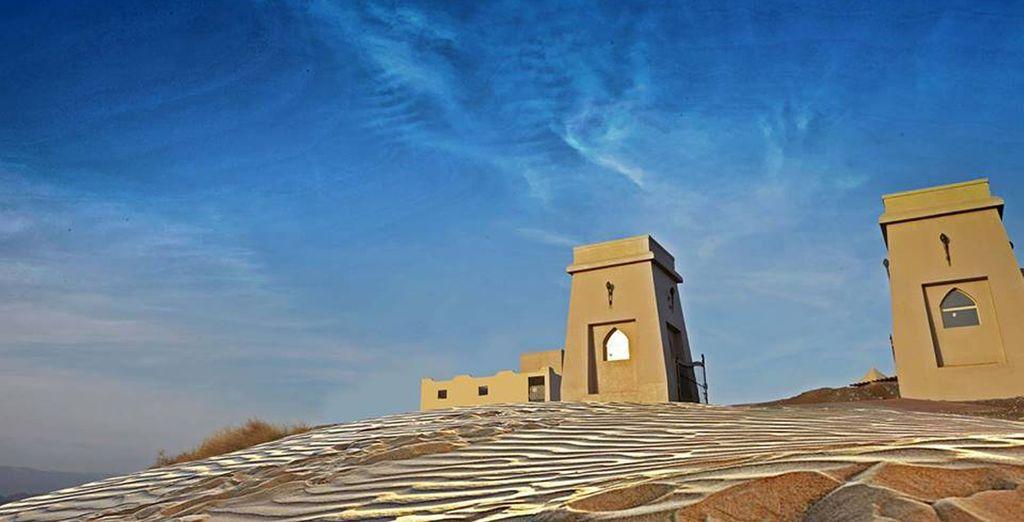 Where you will arrive a beautiful desert retreat