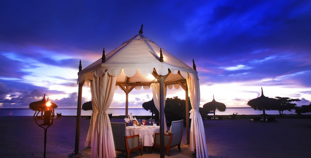 Or splash out on a romantic beach dinner for a night to remember
