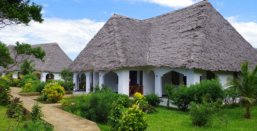 Stay in a lovely garden view bungalow