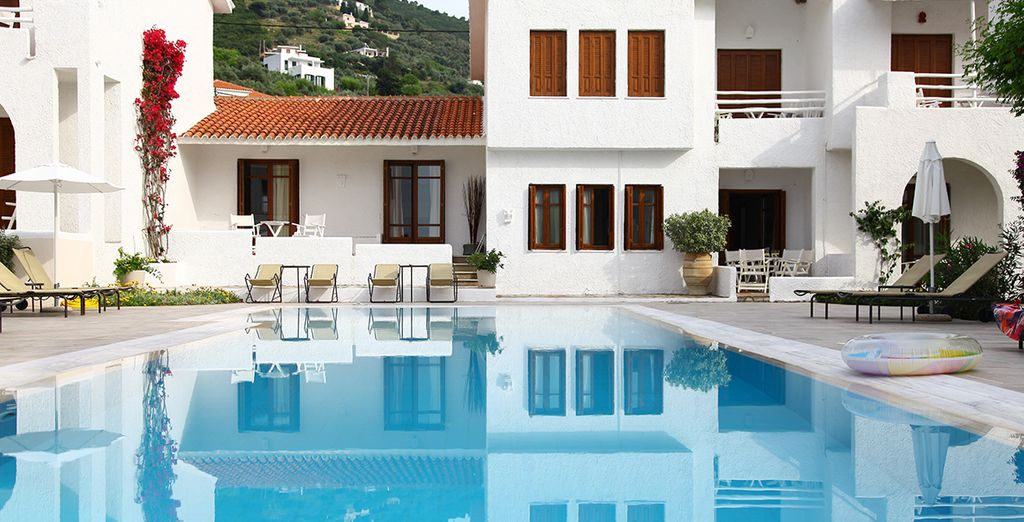 Skopelos Village Hotel is a family run, small and friendly resort
