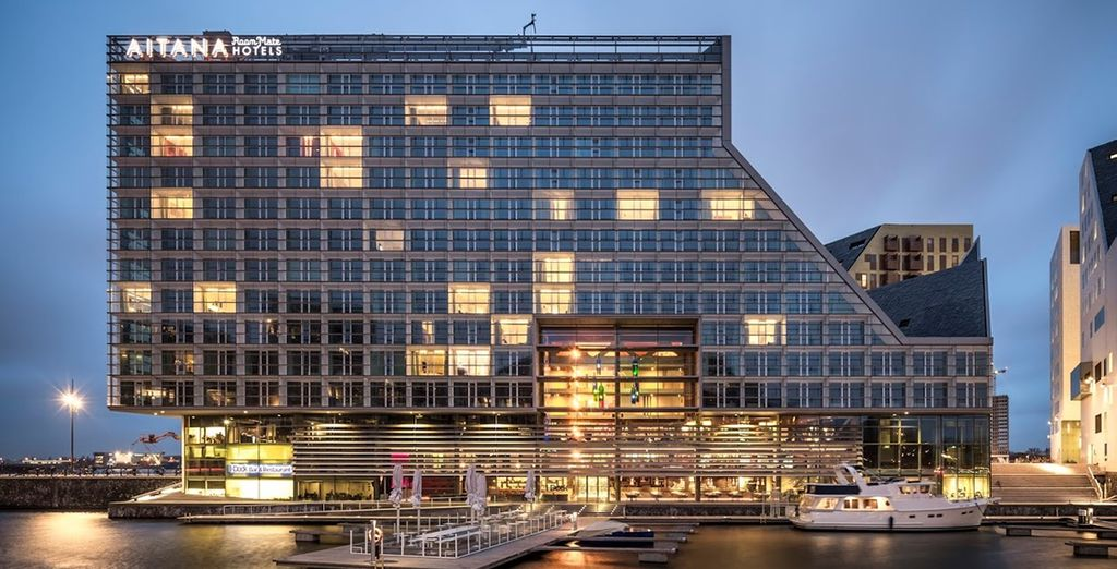 An impressive design hotel by the canal