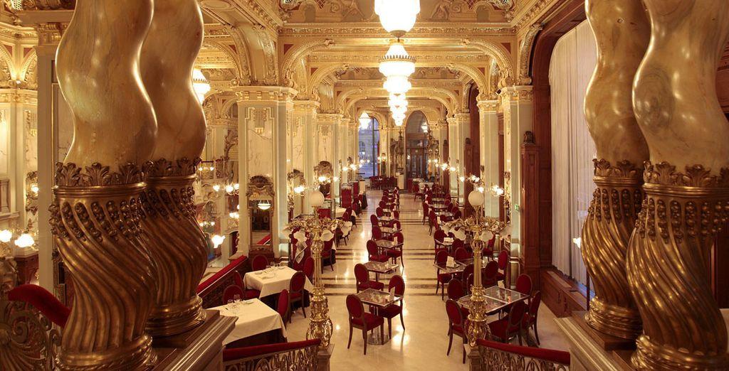 Dine amongst golden splendour