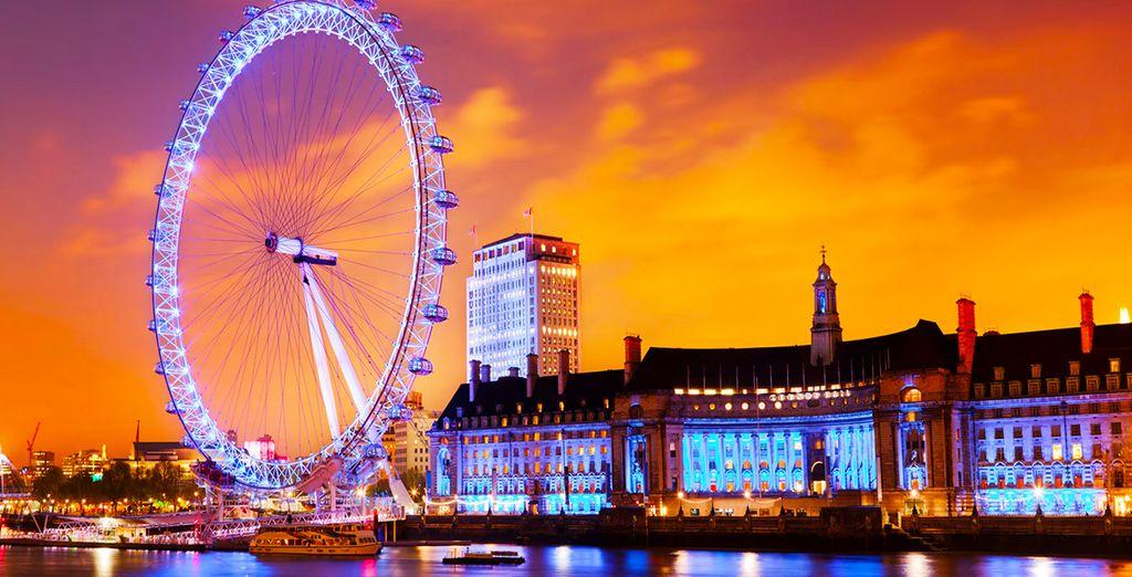 In London eye ...