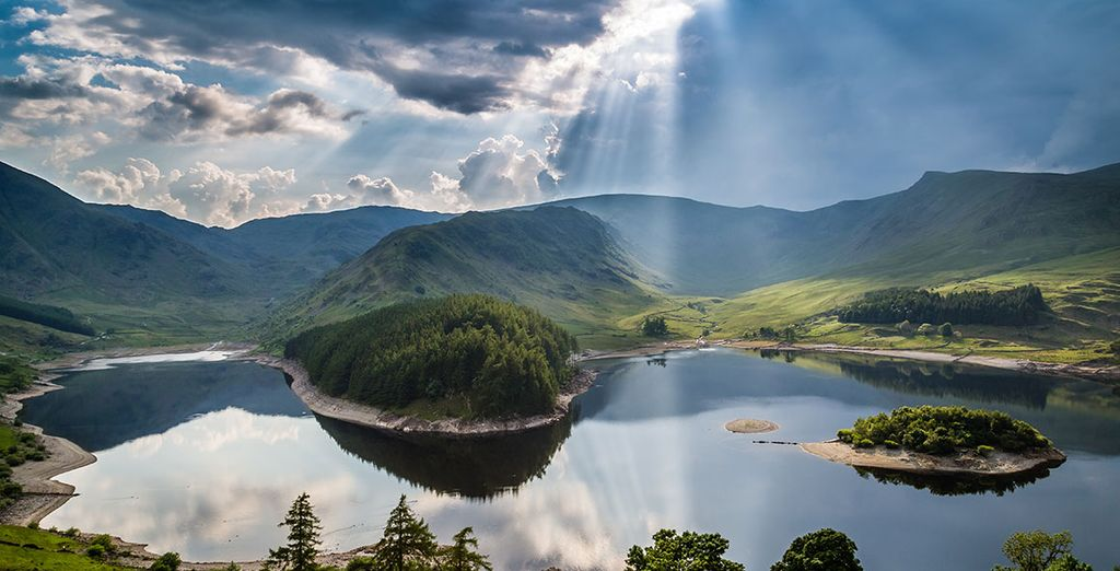 The dramatic views across the lake to the Western Fells are nothing short of breathtaking
