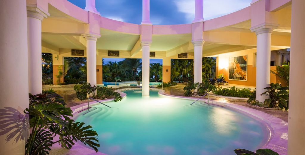 Then luxuriate in the spa pool