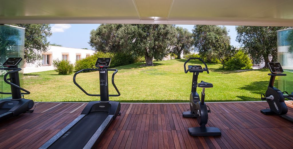 Enjoy a morning workout with amazing views