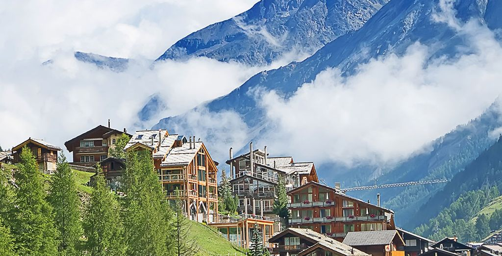 Delve deeper into the Alps along the Matter Valley and at Tasch, take a short train ride to Zermatt