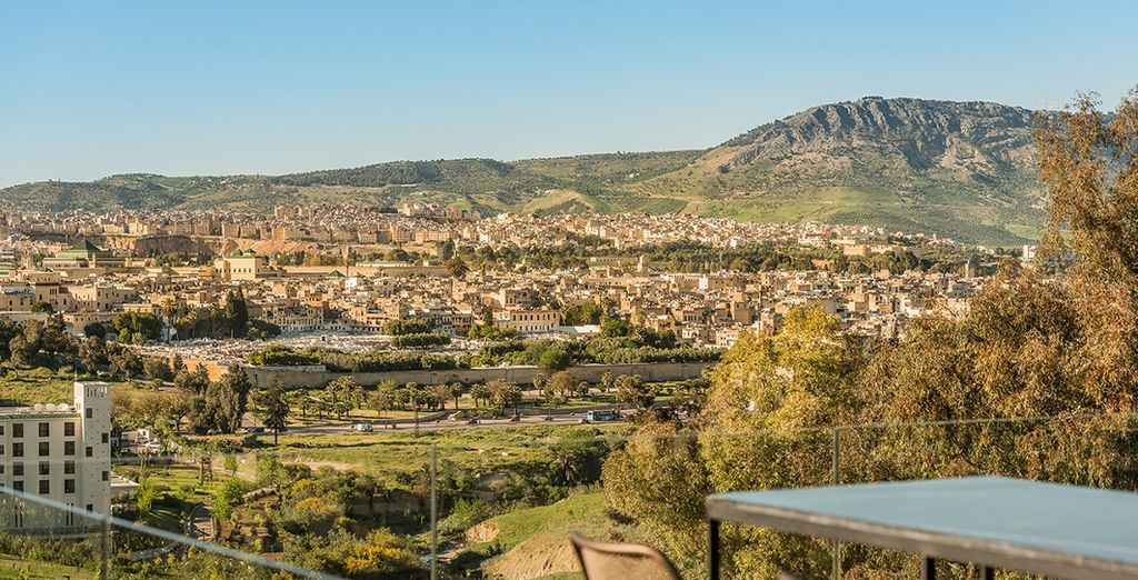 Overlooking the ancient city of Fes
