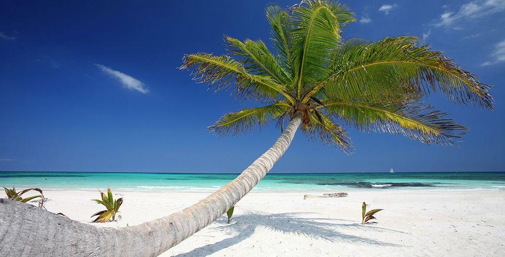 Head to the white, sandy beach where you can create beautiful memories