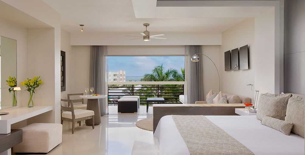 Stay in a luxurious and spacious Junior Suite