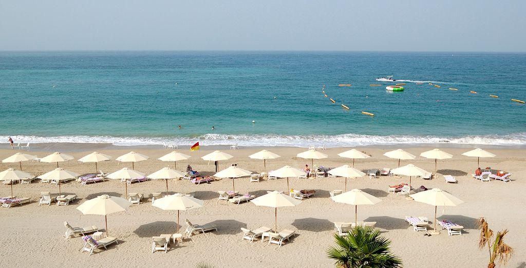 Located on Al Aqah Beach