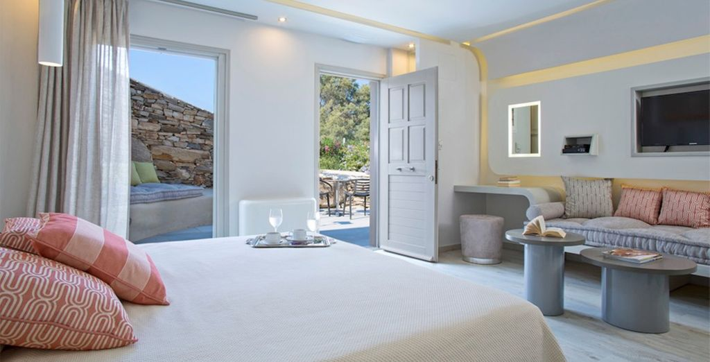Brimming with rustic charm (pictured: Kouros Art Hotel)