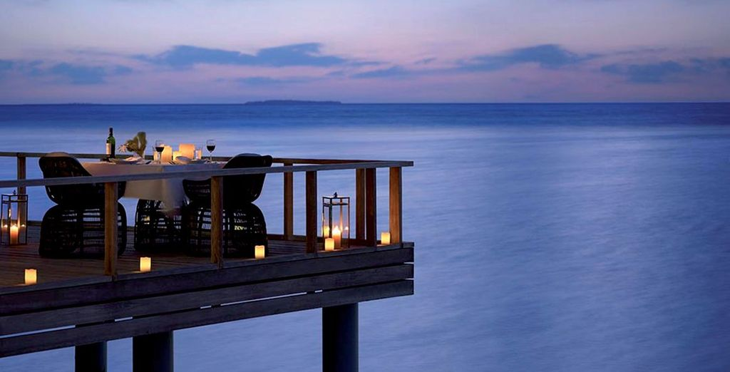 Delight in al fresco dining by the Indian Ocean