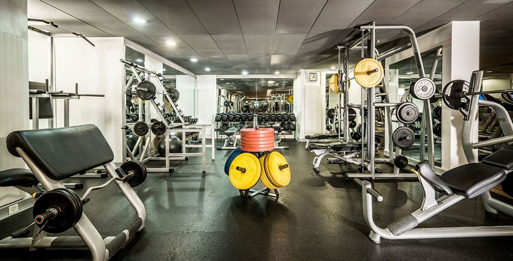 And modern fitness equipment