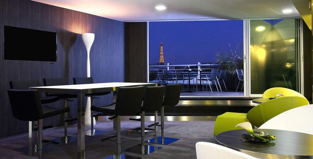 A striking modern hotel with contemporary decor