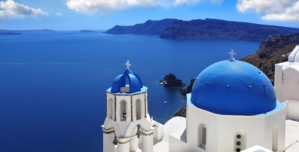 And stunning Santorini