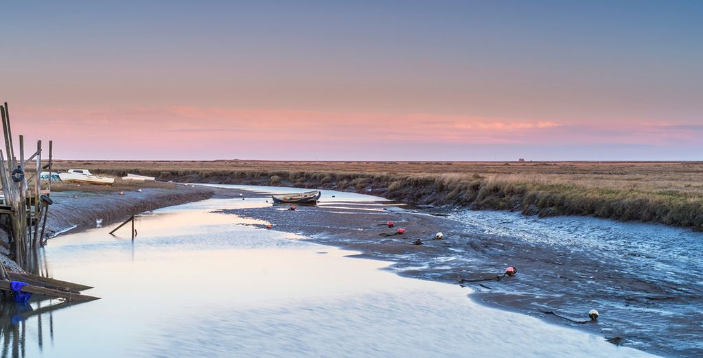 The George sits over the Cley marshes, famed for its wildlife